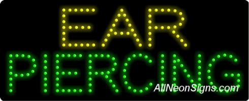 Ear Piercing LED Sign