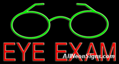 Eye Exam Neon Sign