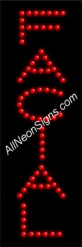Facial LED Sign