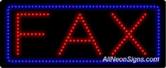 Fax LED Sign