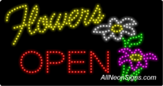 Flowers Open LED Sign