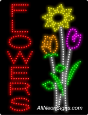 Animated-Flowers (vertical) LED Sign