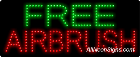 Free Airbrush LED Sign