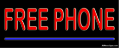 Free Phone Neon Sign