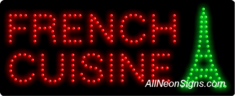 French Cuisine, Logo LED Sign
