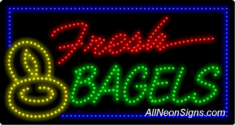 Fresh Bagels LED Sign