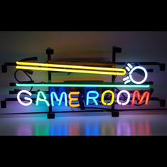GAME ROOM CUE STICK NEON SIGN