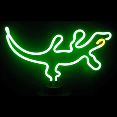 GECKO NEON SCULPTURE