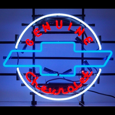 GENUINE CHEVROLET HERITAGE EMBLEM NEON SIGN