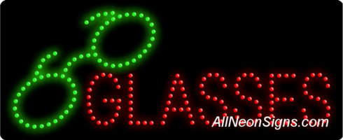 Glasses, Logo LED Sign