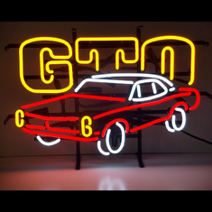 GM GTO AUTOMOBILE NEON SIGN