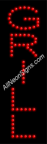Grill LED Sign