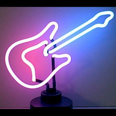 GUITAR NEON SCULPTURE