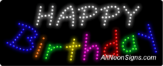Happy Birthday LED Sign
