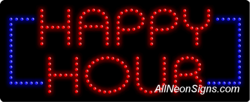 Happy Hour LED Sign