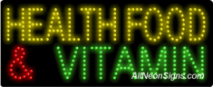 Health Food & Vitamin LED Sign