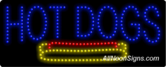Hot Dogs, Logo LED Sign