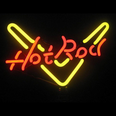 HOT ROD NEON SCULPTURE