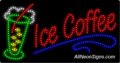 Ice Coffee LED Sign