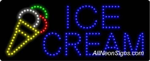 Ice Cream Logo LED Sign
