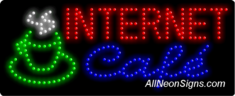 Internet Caf� LED Sign