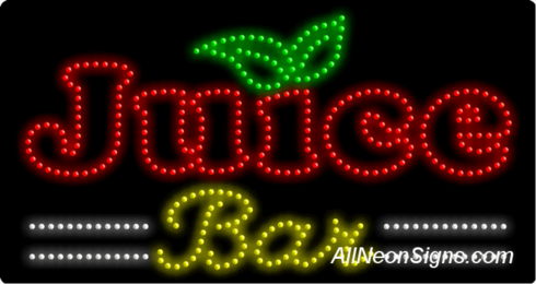 Juice Bar LED Sign