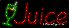 Juice Logo LED Sign