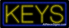 Keys LED Sign
