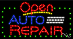 LED Animated Auto Repair Open Sign