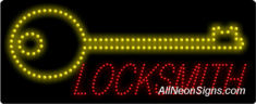 Locksmith, Logo LED Sign
