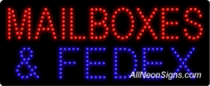 Mailboxes & FedEx LED Sign