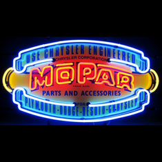 MOPAR VINTAGE SHIELD NEON SIGN