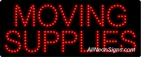 Moving Supplies LED Sign