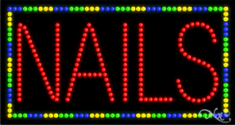 Nails Animated LED Sign