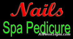 Nails Spa Pedicure Neon Sign