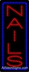 Nails (vertical) LED Sign