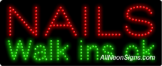Nails Walk Ins OK LED Sign