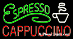 Neon Sign - ESPRESSO CAPPUCCINO - Extra Large