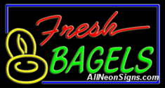 Neon Sign - FRESH BAGELS