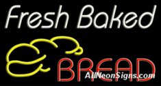 Neon Sign - Fresh Baked Bread
