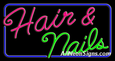 Neon Sign - HAIR & NAILS