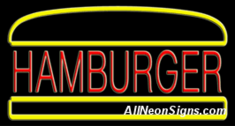 Neon Sign - HAMBURGER