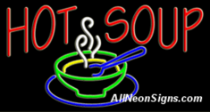 Neon Sign - HOT SOUP