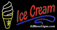 Neon Sign - ICE CREAM