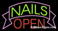 Neon Sign - NAILS OPEN