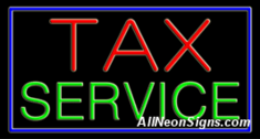 Neon Sign - TAX SERVICE