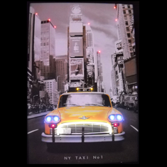 NEW YORK TAXI CAB NEON/LED PICTURE