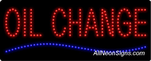 Oil Change LED Sign