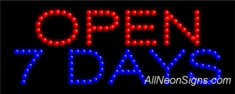 Open 7 Days LED Sign