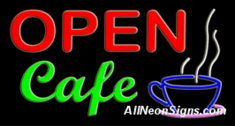 Open Caf� Neon Sign